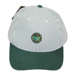 Augusta National Golf Club Masters 1934 Tournament  Green & White Striped Hat