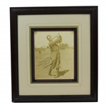 "Bobby Jones Signed ""Swinging"" Image with Personalization JSA ALOA"
