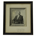 Clifford Roberts Signed Matting with Green Jacket Wearing Photo Display - Personalized JSA ALOA