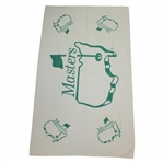 Masters Tournament Logo Green & White Beach Towel with ANGC Bag