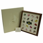 2015 Ltd Ed Augusta National Masters Flower Holes Pin Set in Original Box #013/250 - Box Cover Paper Loss