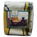 Masters Tournament Large Yellow Center Logo Luxury Knitted Blanket - Unopened