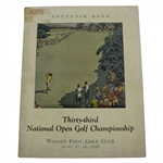 1929 US Open at Winged Foot Official Program - Bobby Jones Win