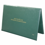 Ltd Ed Jack Nicklaus 20 Major Championships Newspapers in Binder Commemorative Edition