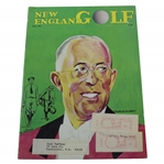 Francis Ouimet on Cover of 1974 New England Golf Magazine - May