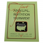 First Annual Invitation Tournament 1934 Reproduction Program - Excellent Condition