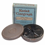 "1929 ""Bobby Jones National Golf Champion"" Kodak Cinegraph 16mm Golf Film In Original Box"