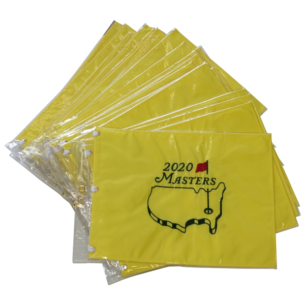 Twenty Five (25) Masters 2020 Embroidered Golf Flags