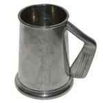 Classic Pewter Golfer Tankard with Iron Handle