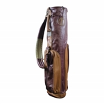 MacKenzie Leather Chicago Golf Club Far & Sure Peter Jacobsen Model Golf Bag