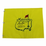 Jack Nicklaus & Gary Player Signed Undated Masters Flag - Both with Years Won JSA ALOA