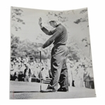 Gary Player Holds Up Hand To Silence The Crowd After Birdie 4/16/61