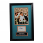 Don Shula Signed Cut Framed With Dolphins Team Following Victory Photo - Framed JSA #LL53971