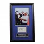 Ray Floyd 4x Major Winner Signed Cut with US Open Trophy Photo - Framed JSA #LL53970