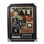 Muhammad Ali Signed Deluxe Shadowbox Heavyweight Champion of the World - Greatest of All Time PSA/DNA #V10020