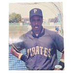 Barry Bonds Signed Early Pirates Career 8x10 Photo JSA #LL77632