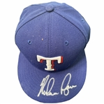 Nolan Ryan Signed Texas Rangers Fitted (7 1/4) Hat with MLB & Ryan Hologram