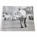 "Arnold Palmer 2/6/61 ""Tossing The Putter"" Wire Photo"