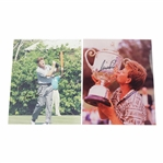 Two (2) Nick Price Signed 8x10 Photos JSA ALOA